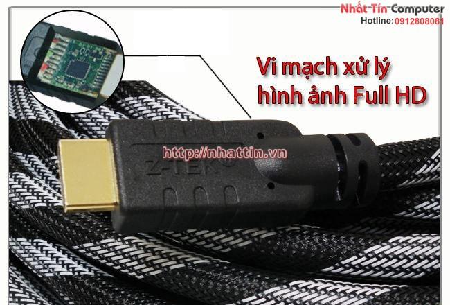 Dây Cáp HDMI 20M to HDMI Z-TEK 3D, 4k x 2k (Model ZE-575A) Chính hãng