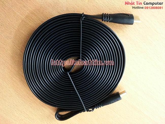 Cáp HDMI 10m Mềm Mỏng Dẹt chuẩn 1.4