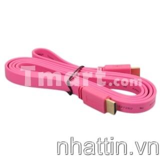 Cáp HDMI to HDMI 3m/5m HD Flat Cable Blue Pink Red Black Dây Cáp hdmi dẹt xanh đỏ vàng hồng tím