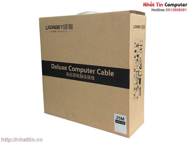 Cáp HDMI Ugreen 25m  chính hãng - Hỗ trợ 3D, 4K x 2K, HD1080P