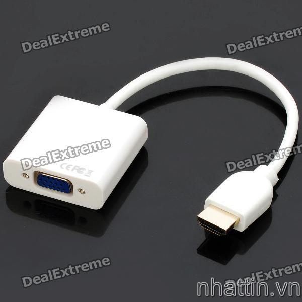 Dây cáp mini hdmi to vga,cáp mini hdmi,Cáp chuyển HDMI và Mini HDMI sang VGA cho điên thoai và may tinh bảng