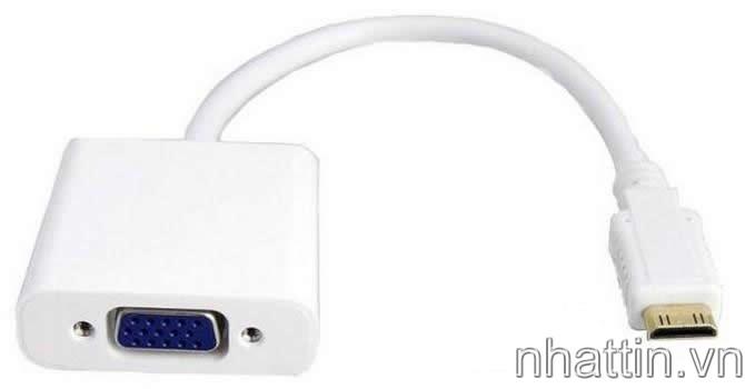 Cáp Đầu chuyển Mini HDMI to VGA ( Video Converter Adapter )