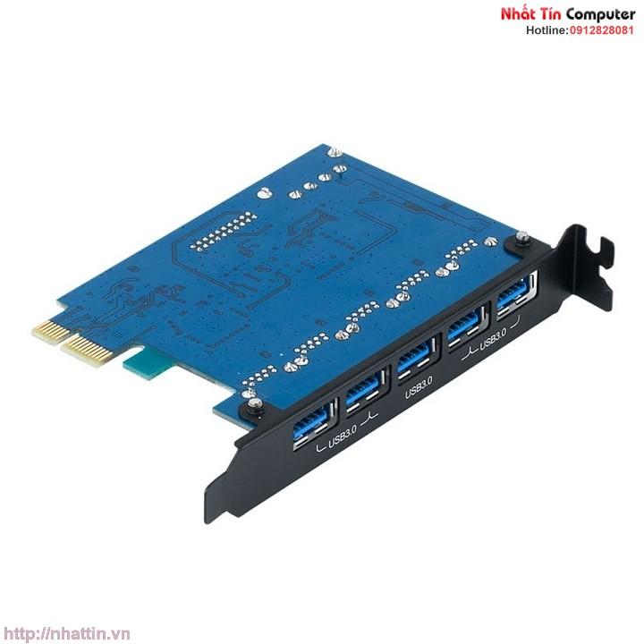card-pci-express-sang-5-cong-usb-3-0-va-jack-20pin-mo-rong-chinh-hang-orico-pvu3-502i