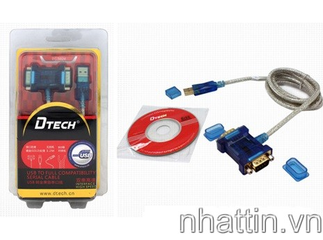 Dây USB to 2 RS232 (USB to 2 com) DTECH - DT5024