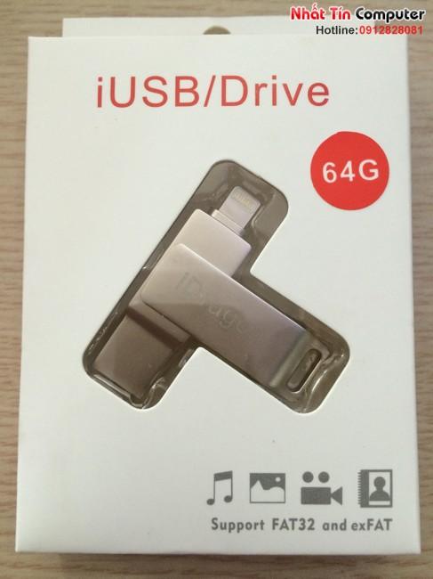 iUSB FlashDriver 64gb iDragon-U008 cho điện thoại Iphone, Ipad, Ipod chính hãng