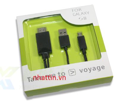 Dây Cáp MHL to HDMI 3m (Micro USB) dùng kết nối điện thoại Galaxy S3, Note2 N7100