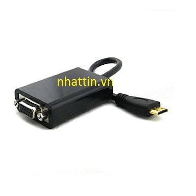 Đầu chuyển Mini HDMI to VGA ( Video Converter Adapter ) cổng mini hdmi sang cổng vga cho máy chiếu