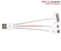 Cable USB ra Samsung, HTC, LG, Iphone 4/ Iphone 5 + micro Z-Tek (ZY070)