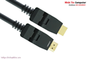 Cáp HDMI 3m đầu xoay 180 độ hỗ trợ full HD 4Kx2K chính hãng Ugreen UG-10127 cao cấp