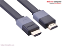 Cáp HDMI dẹt hỗ trợ 3D 4K dài 3m cao cấp chính hãng Ugreen UG-30111