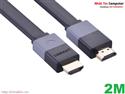 Cáp HDMI mỏng dẹt dài 2m hỗ trợ 3D 4K Chính hãng Ugreen UG-30110