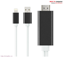 Cáp Lightning to HDMI cho iPhone 5/5S iPhone 6/6S/6Plus, iPhone 7 iPad Mini, Mini 2 iPad Air dài 2m