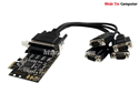 Card PCI Express to 4 com rs232 SYBA FG-EMT01B