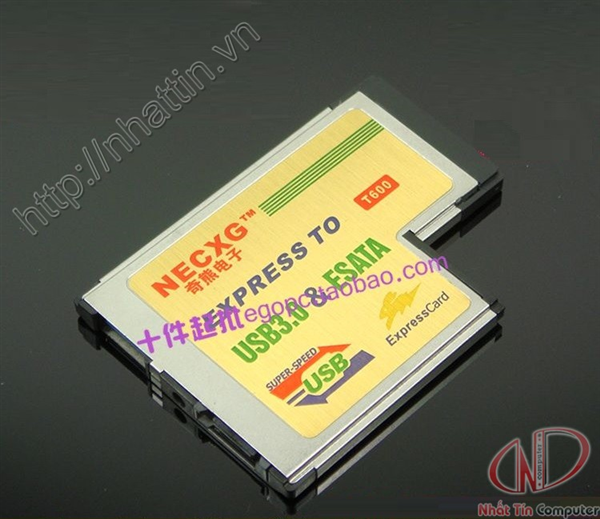 Card PCMCIA Express to USB3.0 + esata