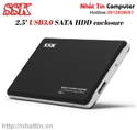 Hộp đựng HDD Box SSK 2.5ing USB 3.0 (Model HE-V300)