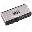 Card Sound box 5.1 USB 6CH + Optical audio